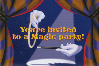 A free magician birthday invitation for childrens magic party